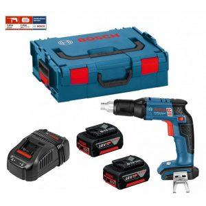 BOSCH GSR 18 V-EC TE (2 X 4,0 Ah + GAL1880CV + L-Boxx 136)