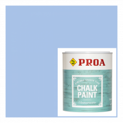 Chalk paint proa azul old