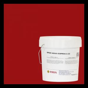 Epoxi agua icoproa rojo oxido + epoxi agua icoproa