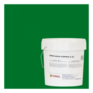 Epoxi agua icoproa verde prado ral 6001 + epoxi agua icoproa