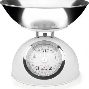 Lacor - 61714 - Báscula Cocina Retro de Acero 5kg