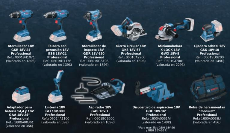 Promocion herramientas Bosch
