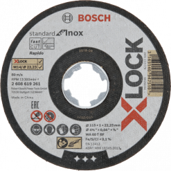 10 discos de corte recto para Inox Ø115mm