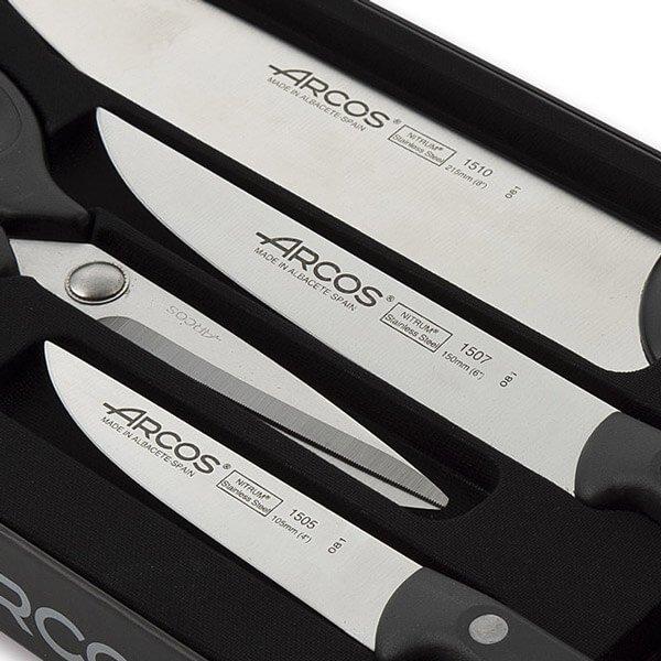 juego de cuchillos arcos maitre