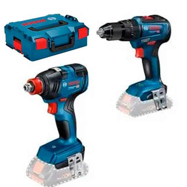 BOSCH Kit GSB 18V-55 + GDX 18V-200C + 2 x 4 Ah Pro Core + L-Boxx - 06019J2202