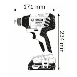 Atornillador Bosch GDX 18V-180 Professional medidas