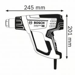 Decapador aire caliente Bosch GHG 23-66 Professional tamaño
