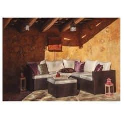 Juego sofa mesa Jardín Barbados
