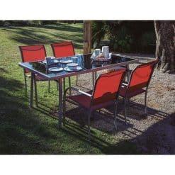 conjunto jardin serie brasil silla erracota