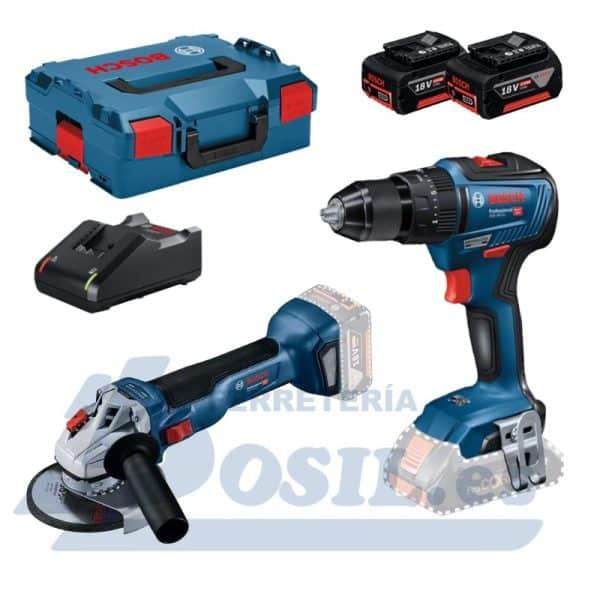 Kit Bosch GSB 18V-55 + GWS 18V-10 + L-Boxx