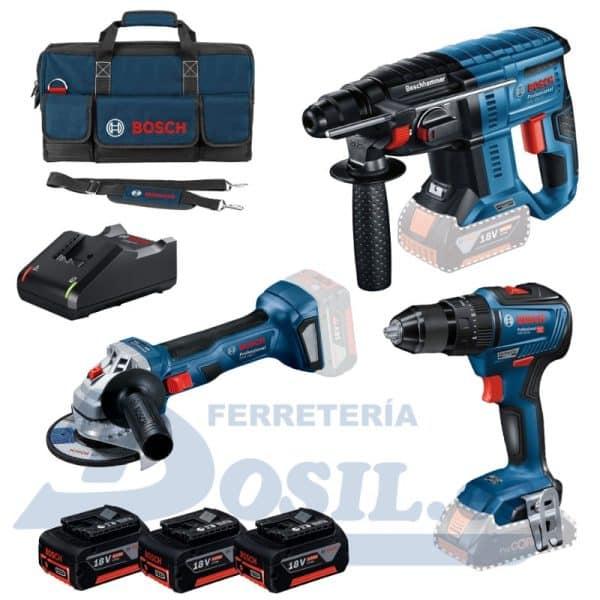 Kit Bosch GSB 18V-55 + GWS 18V-7 + GBH 18V-21